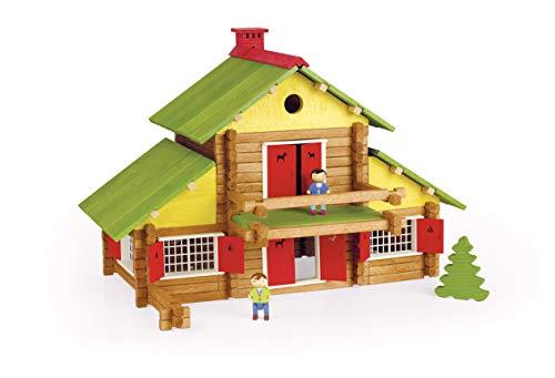 Jeujura - 8005- Jeux de Construction-Mon Chalet en Bois - 240 Pieces