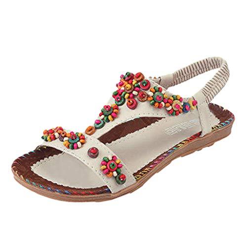 Clearance Sale ODRD Sandalen Shoes Frauen-Damen-Schnur-Korn-beiläufiger Strand beschuht Sandalen Schuhe Strandschuhe Freizeitschuhe Turnschuhe Hausschuhe
