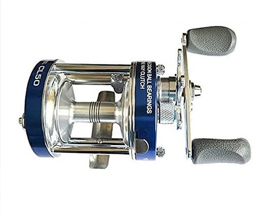SONG CL50 Tambaleo de Pesca de Baquetas de Pesca 2 Cama Y Desayuno Relación de Engranajes diestros 5.2: 1 Azul