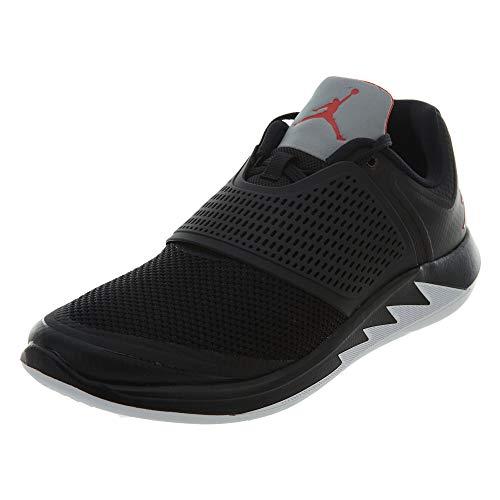 Jordan Mens Grind 2 Leather Low, Black/University Red-White, Size 11.0