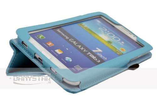 Custodia Cover per Samsung Galaxy Tab 3 7.0 P3200 /T210(Celeste) - Accessori per Tablet Danystar