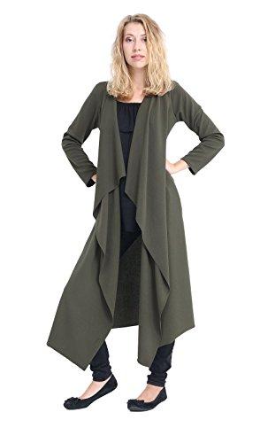 Momo&Ayat Fashions Dames Open Voorzijde Waterval Drape Crepe Duster Vest UK Maat 8-26