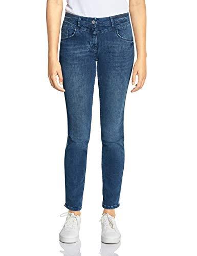 Cecil Damen 372540 Charlize Galon Fit Slim Jeans, Blau (mid Blue wash 10282), W31/L32 (Herstellergröße:31)