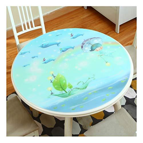 &Nappes Nappe ronde en PVC - Nappe PVC transparente pour salle à manger en PVC nappe de table (Couleur : C, taille : Round-90cm)