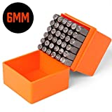 HORUSDY 36-Piece 6mm Number & Capital Letter Stamp Set (A-Z & 0-9) Punch Perfect for Imprinting Metal,...
