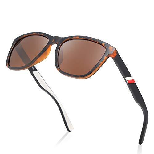 kimorn Gafas De Sol Polarizadas Para Mujer, Hombre Montura TR90 Gafas Retro Clásicas K0800 (Carey)
