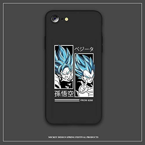 Utilisation confortable Cas de téléphone, le Japon Dragon Ball Z Sangoku super DBZ Housse for iPhone 11 Pro X XR XS MAX 6 S 7 8 Plus Bleu téléphone silicone souple lumière coque Moule réel de la machi