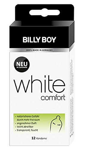 Billy Boy White Comfort Kondome Transparent 12er