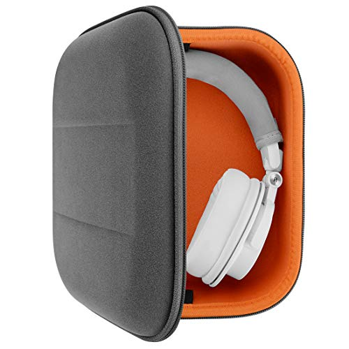 Geekria UltraShell Headphone Case for Pioneer HDJ-2000, HDJ-1500n, HDJ-2000mk2-S, RP-DH1200, RP-DJ600, ATH-M50X, ATH-M50xbt Headphones Replacement Large Hard Shell Travel Bag (Microfiber)