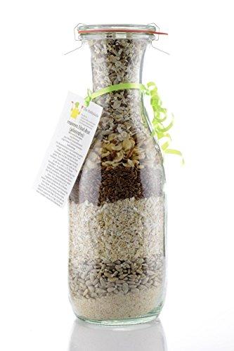 veganes Vital-Brot (glutenfrei) in 1040 ml Weckglas ideal als Geschenk
