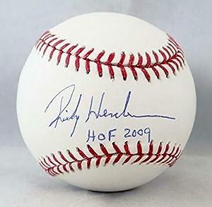 Rickey Henderson Autographed Rawlings OML Baseball w/HOF 2009 - Steiner Auth - Autographed Baseballs