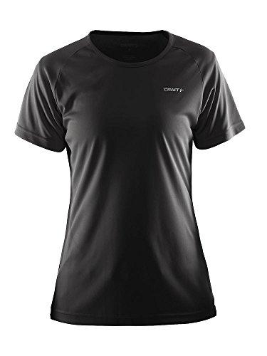 Craft Damen Prime Tee T-Shirt, Schwarz, Größe XL
