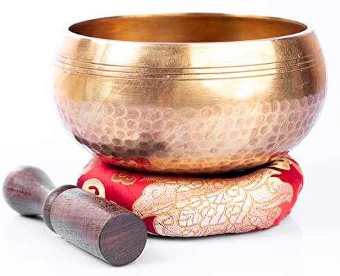 Tibetan Singing Bowl Set Easy To Play Original Handcrafted Meditation Sound Chakra Healing By product image
