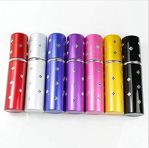 Mini flacon vaporisateur de parfum rechargeable en cristal avec étui à pompe