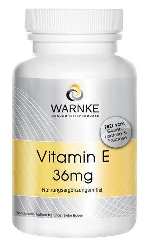 Vitamina E 36mg – sin aceites – 100 comprimidos –vegetariano