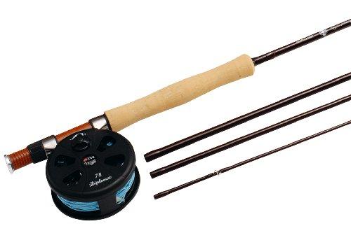 Abu Garcia Diplomat combo canne à mouche et moulinet pour la pêche à la mouche en eau douce, fournir avec backing et soie pour la pêche de la truite