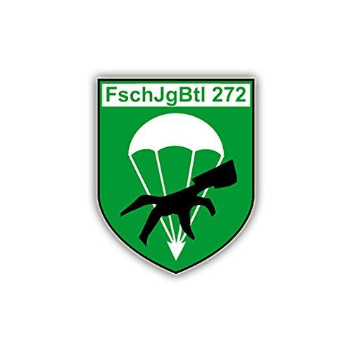 Aufkleber/Sticker FschJgBtl 272 Wappen Abzeichen Fallschirmjäger 7x6cm A787