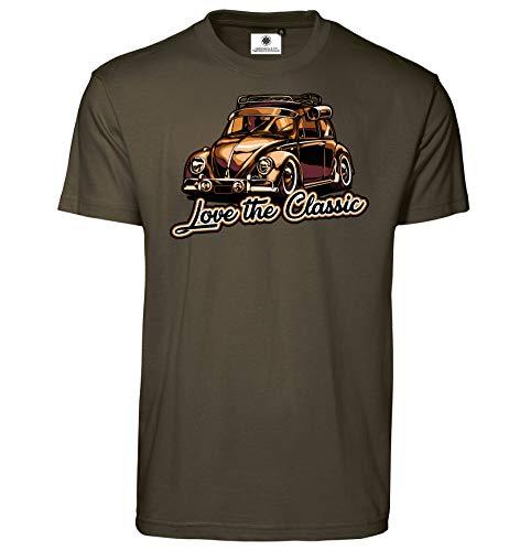 Customized by S.O.S T-shirt imprimé coccinelle Love The Classic pour homme - Vert - Large