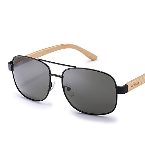 YANKAN Sonnenbrillen für Männer und Frauen-Bambus-Holz-Farbfilm Sonnenbrille-Retro Polarisiert uv-Beständigen Linsen-für Auto Oder im Freien
