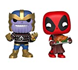 Funko Marvel: Pop! Holiday Marvel Collectors Set 3 - Thanos, Deadpool