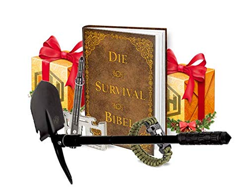 KrisenHeld Survival Kit mit Survival Buch - Survival Ausrüstung - Survival Set mit Survival Axt, Survival Pen und Survival Armband