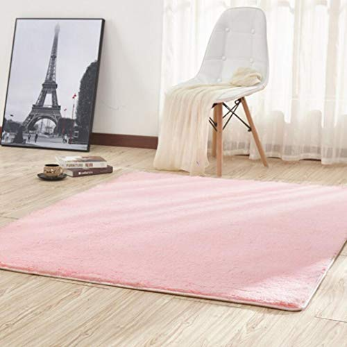 CARPET Haushalt Teppich Wohnzimmer Couchtisch Schlafzimmer Nacht Yoga Matte Rutschfeste Teppich Tatami Matten Home Teppich (Farbe : Pink, größe : 100 * 200cm)