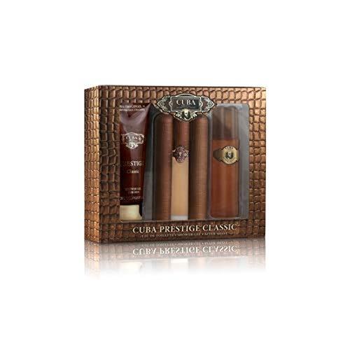 Cuba Prestige Classic | 3 Piece Gift Set - 3.0 Oz Eau De Toilette Spray, 3.4 Oz Aftershave, 6.8 Oz Shower Gel | Fragrance For Men