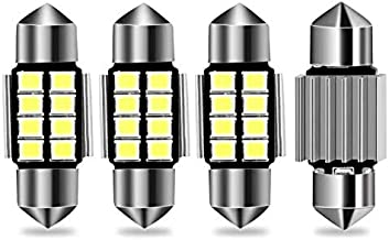 DE3175 31mm LED Interior Dome Light Map Bulb, AUTOBEAM 1.22'' Error Free CANBUS 8-SMD 6000K Xenon White - Pack of 4