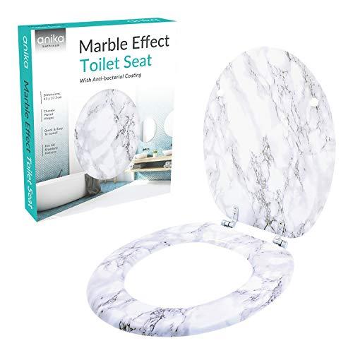 Anika, Toilettensitz, Marmor-Effekt, 43cm x 37.5cm