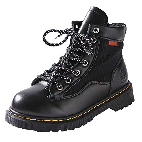 Anglewolf Unisex-Kinder Boots Stiefel Winter Schneestiefel Warme Stiefeletten Baby Kinder WäRme GefüTterte Winterschuhe rutschfest Weichsohlen Mode Stiefel, Watte Schuhe Warm Stiefel