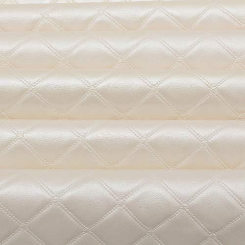I Want Fabric Bentley Diamond Stitch in Rilievo, Effetto Veicolo Rivestimento in Similpelle. Ivory