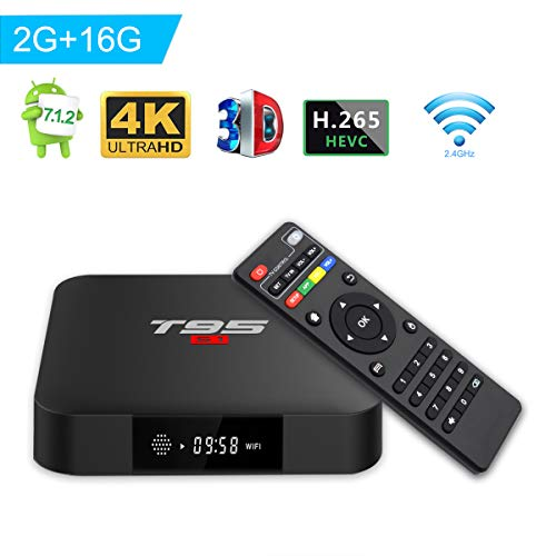 Turewell TV Box Android 7.1, Android Box Amlogic S905W Quad Core, 2GB...