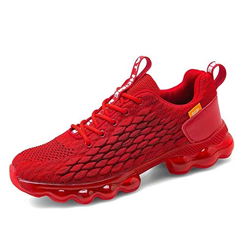 Aszeller Mens Running Shoes Fashion Breathable Air Cushion Sneakers Lightweight Tennis Sport Casual Walking Athletic for Men Outdoor Jogging Shoes (Red,6.5)