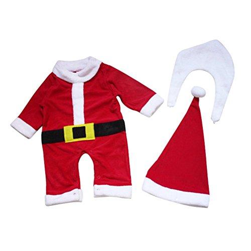 Blaward Bambini Santa Vestito Natale Pagliaccetto per Bambina Bambino Neonate Vestiti di Natale del Partito del Costume