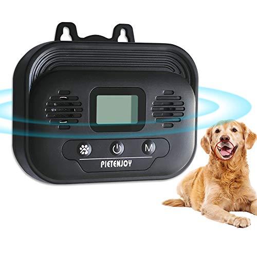 Dispositivos Antiladridos de Perros, Inhibidor de Ladridos Sónico a Prueba de Agua para Exterior, Artículos de Entrenamiento de Ladrido Perros Seguro y Humano