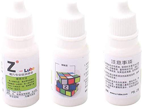 xiegons0 Velocidad Cubo Lubricante - 3pcs 10ml Previene Óxido Mejora Velocidad Silicona Aceite Lubricante para Mágico Cubo - Blanco, Free Size