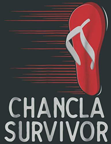 Chancla Survivor Funny Spanish Joke: Premium matte cover design, 100 Pages, Size 8.5 x 11 in.