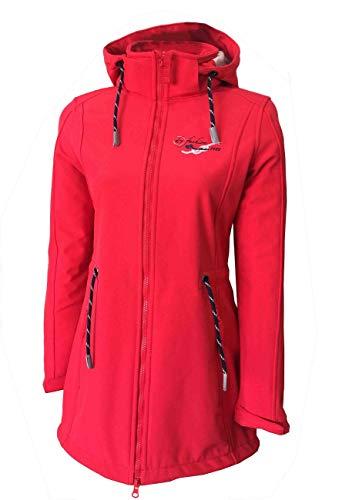 Dry Fashion Damen Softshellmantel Sylt No.2, Farbe:rot, Größe:40