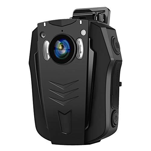 BOBLOV Cámara Corporal 64GB 1296P, Cámara WiFi Portátil para Policía con Visión Nocturna Memoria Incorporada Luz Grabación de Audio de 170 Grados para Aplicación de la Ley