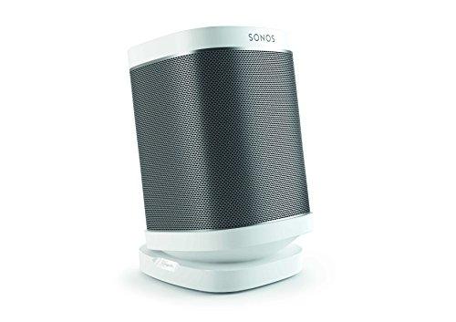 Vogel\'s SOUND 4113 Lautsprecher Tischständer für Sonos One (SL), Play:1 & Play:3, Bis zu 10° neigbar, Bis zu 360° schwenkbar, Weiß (1x)