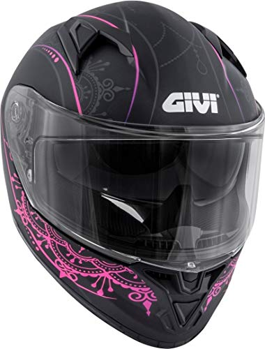 GIVI 50.6 Stoccarda Mendhi Damen Helm Schwarz Matt/Pink M (58)