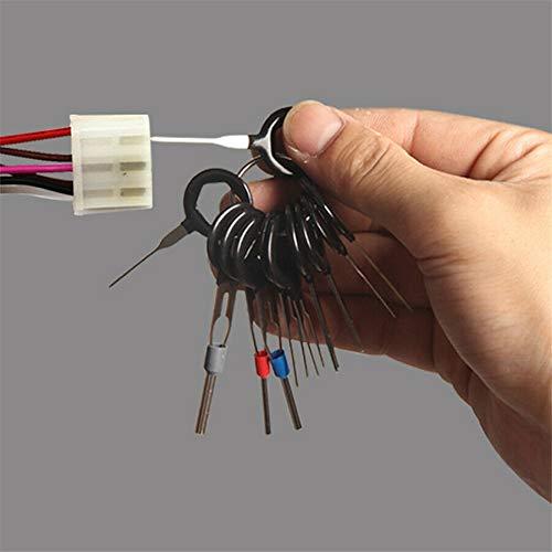 EGFheal 36Pcs Auto Stecker Terminal entfernen Key Tool Set Auto Pin Extractor Verdrahtung Crimp Key Extractor Connector Extractor Kit für Auto-Reparatur 36 Stück Set