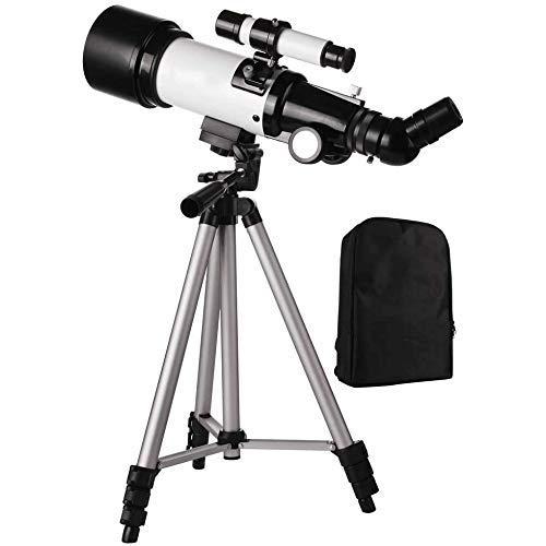 WNTHBJ Refraktor Teleskop Mit Stativ & Finder Scope, Beweglichem Teleskop Für Kinder & Astronomie Anfänger, Reise Scope Smartphone Adapter