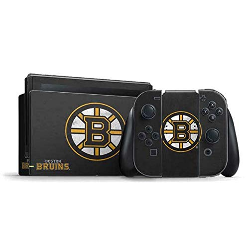 Skinit Decal Gaming Skin Compatible with Nintendo Switch Bundle - Officially Licensed NHL Boston Bruins Distressed Design