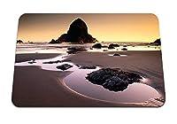 22cmx18cm マウスパッド (海石砂海岸ビーチブロックプール) パターンカスタムの マウスパッド