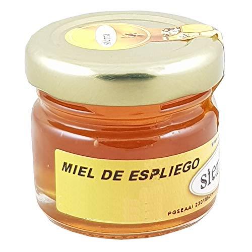 Bote de cristal con miel artesanal de espliego, 40gr para detalles - 4 cms x 4 cms-1 unidad