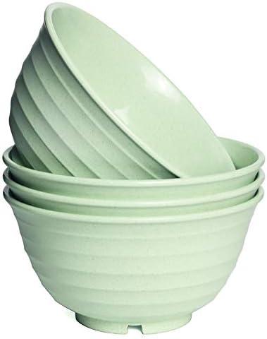 Wheat Straw Bowls Set of 4 Unbreakable Bowl for Cereal Salad Noodle Soup Dessert 30OZ Dishwasher product image