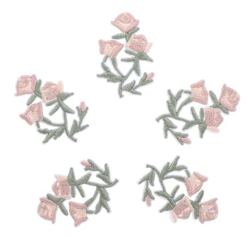 Milisten 20 Parches de Flores Parches Bordados con Flores Parches Decorativos Apliques de Costura para Manualidades Bolsos de Ropa Bolsos de Jean Mochila (Estilo 1)