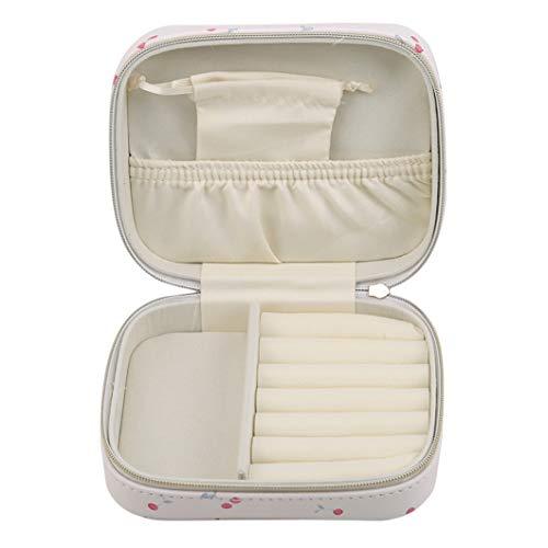 SJHFG Caja de almacenamiento portátil para pulseras, pendientes, anillos, collares, charola organizadora de regalo para mujeres, estilo 1