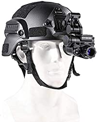 Gexmil Digital Night Vision Monocular with Helmet Mount, HD Infrared Digital Night Vision Goggles Rifle Scopefor Hunting Forest Observe Wildlife Secenery